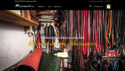 Web Shop Altobello Dobermann