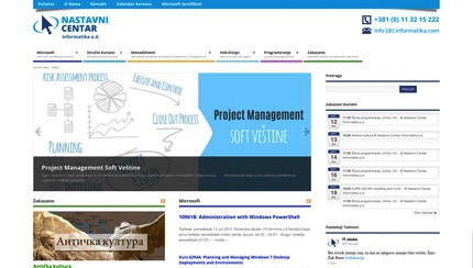 Website for Informatika Nastavni Centar